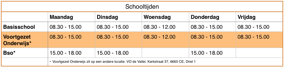 continurooster basisschool