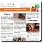 Nieuwsbrief december 2009